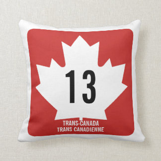 Trans-Canada signal Throw Pillow