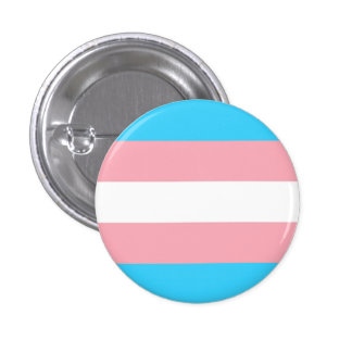 trans flag 1 inch round button