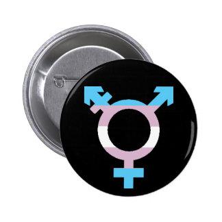 Trans Flag Symbol 2 Inch Round Button