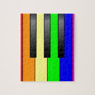 Trans Gay Piano Keys Jigsaw Puzzle