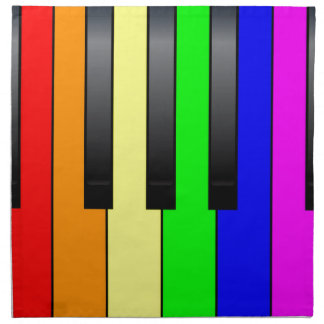 Trans Gay Piano Keys Napkin