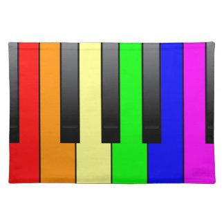 Trans Gay Piano Keys Placemat