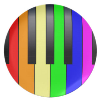 Trans Gay Piano Keys Plate