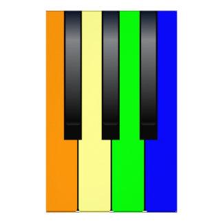 Trans Gay Piano Keys Stationery