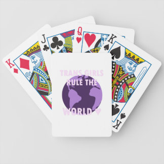 Trans Girls Rule The World (v1) Bicycle Playing Cards