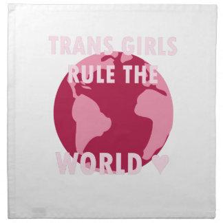Trans Girls Rule The World (v2) Napkin