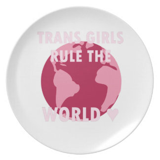 Trans Girls Rule The World (v2) Plate