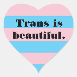 Trans is beautiful heart sticker