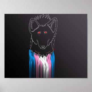 Trans masculine hyena poster