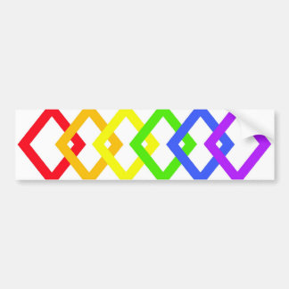 TRANS PRIDE DIAMONDS copy Bumper Sticker