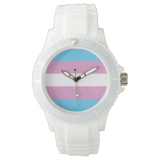 TRANS PRIDE STRIPED HORIZONTAL - 2014 PRIDE.png Wrist Watches