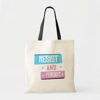 Trans Resist and Persist - -  Tote Bag