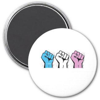 Trans Resistance - Trans Flag and Fist - Trans Pri Magnet
