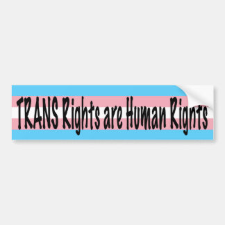 TRANS Rights are Human Rights Bumper Sticker