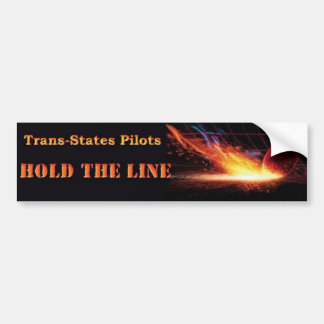 Trans States Pilots/Hold the Line Bumper Sticker