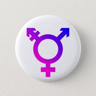 Trans* Symbol pink/blue 2 Inch Round Button