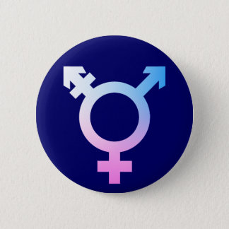Trans* symbol pink/blue/white 2 inch round button