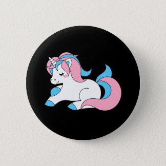 Trans unicorn 2 inch round button