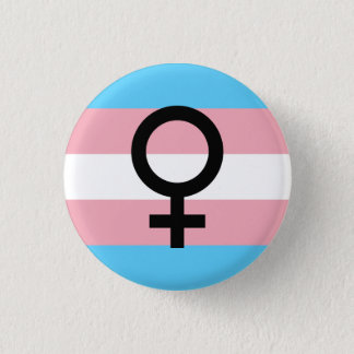 Trans Woman Pride 1 Inch Round Button