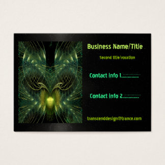 Transcend 3D Fantasy Abstract CUSTOMS TECH REP Business Card