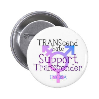 """TRANScend Hate"" - Transgender Button"