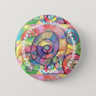 TRANSCENDENT TRANS PIN: Rainbow Vortex 2 Inch Round Button