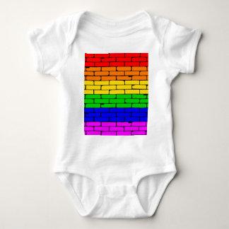 Transexual Rainbow Wall Baby Bodysuit