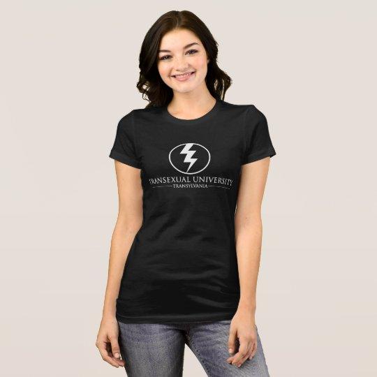 Transexual University - Transylvania (White Text) T-Shirt