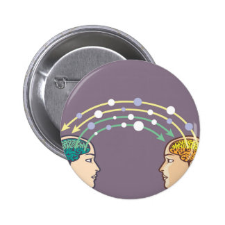 Transfer of information between minds 2 inch round button