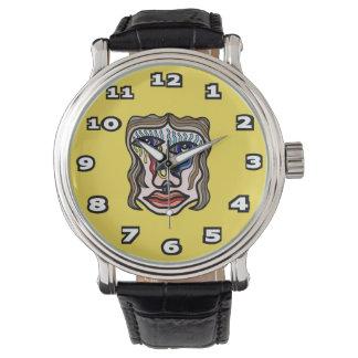 """Transform"" Black Vintage Leather Watch"