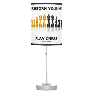 Transform Your Mind Play Chess Advice Chess Set Table Lamp