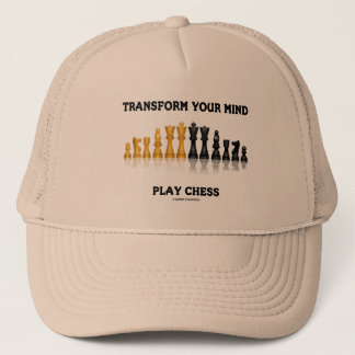 Transform Your Mind Play Chess Advice Chess Set Trucker Hat
