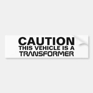 Transformateur Autocollant De Voiture