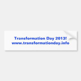 Transformation Day 2013! bumpersticker Bumper Sticker