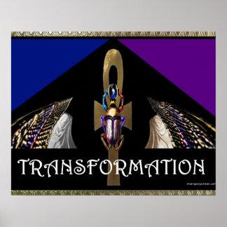Transformation/ Scarab/Ankh- Poster
