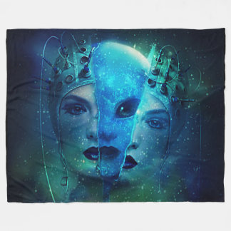 Transformation The Alien Within Fleece Blanket