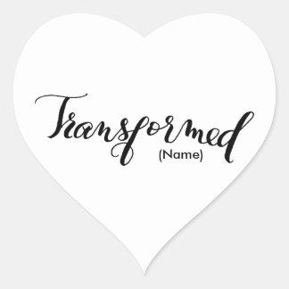 Transformed Custom Heart Sticker
