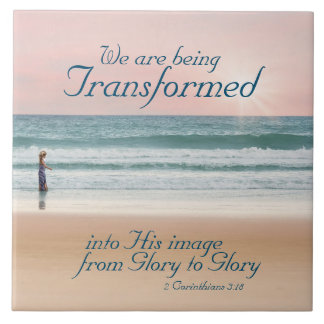 Transformed into His Image Bible, Girl on Beach Tile