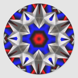 Transformer Star Round Sticker