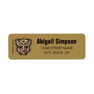 Transformers | Autobot Shield Return Address Label