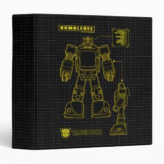 Transformers   Bumblebee Schematic 3 Ring Binder
