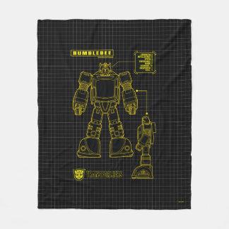 Transformers | Bumblebee Schematic Fleece Blanket