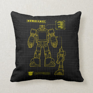 Transformers | Bumblebee Schematic Throw Pillow