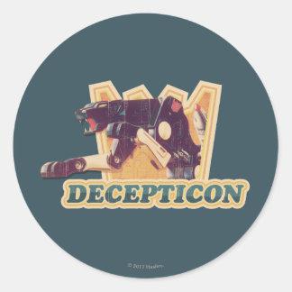 Transformers | Decepticon Graphic Classic Round Sticker
