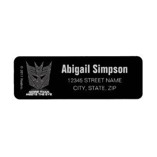 Transformers | Decepticon Shield Revealed Return Address Label