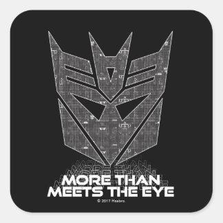 Transformers | Decepticon Shield Revealed Square Sticker