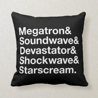 Transformers | Decepticons Ampersand Throw Pillow