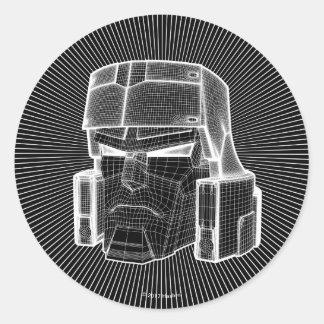Transformers | Megatron 3D Model Classic Round Sticker