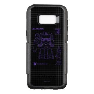 Transformers   Megatron Leader of the Decepticons OtterBox Commuter Samsung Galaxy S8+ Case