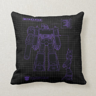 Transformers | Megatron Leader of the Decepticons Throw Pillow